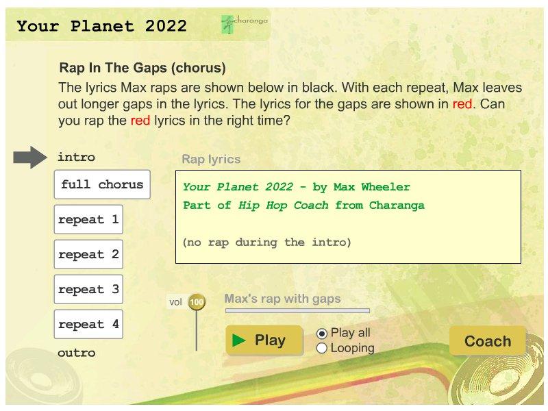 Your Planet 2022 Rap the Gap
