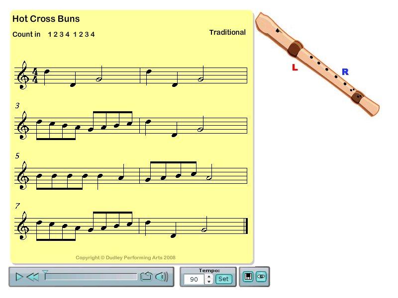 Hot Cross Buns (recorder)